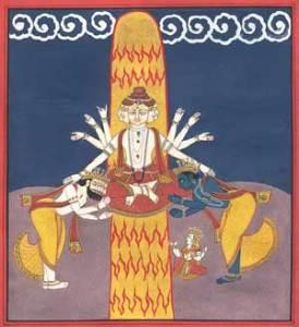 The Lingam of Light is worshipped by Brahma and Vishnu.