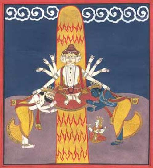 The Lingam of Light is worshipped by Brahma and Vishnu.