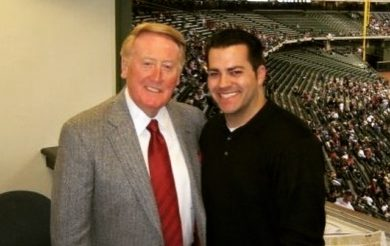 Ryan McGrady and Vin Scully