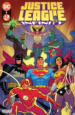 Justice League Infinity (2021-) #1 comic book cover art
