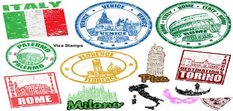 Stamp and Online Visa Application Forms