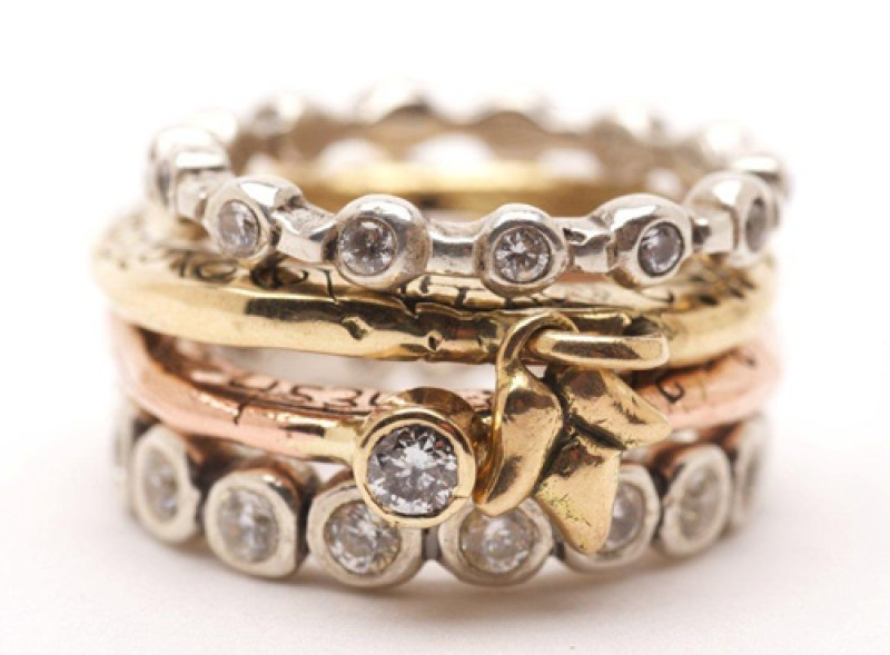 Small and large eternity rings, Goddess stack ring by SPC
