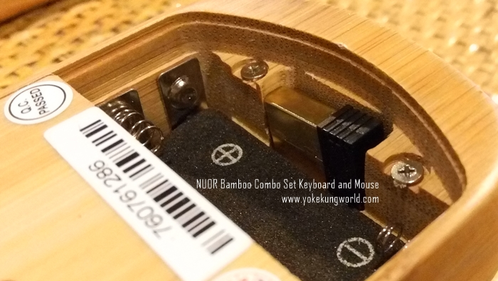NUOR Bamboo mouse - wireless