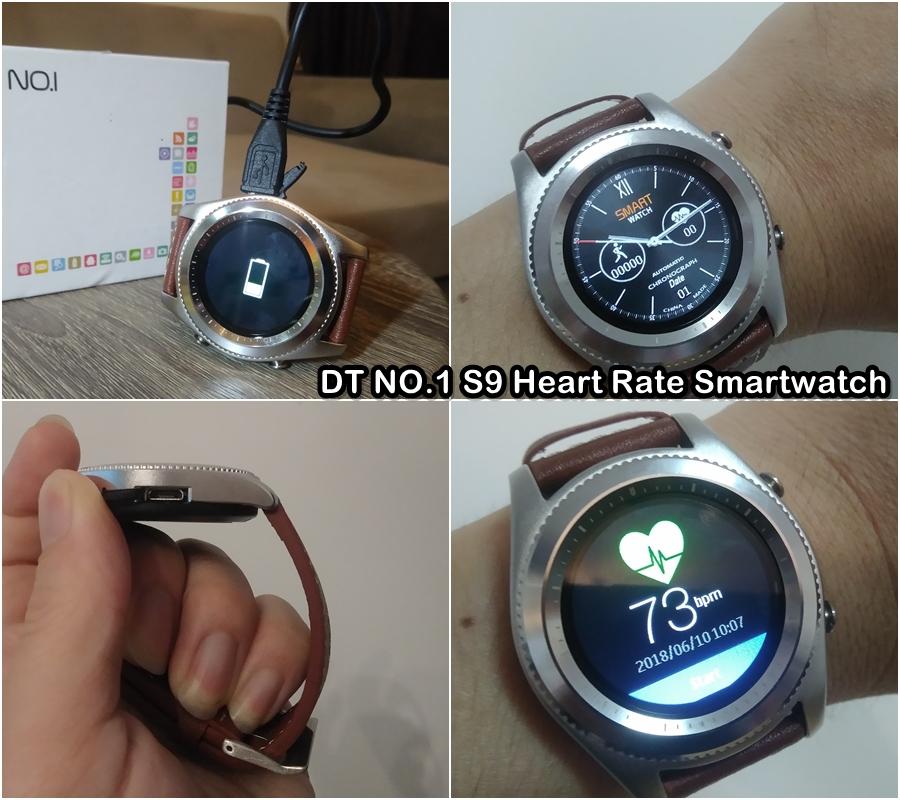 DT NO.1 S9 Heart Rate Smartwatch