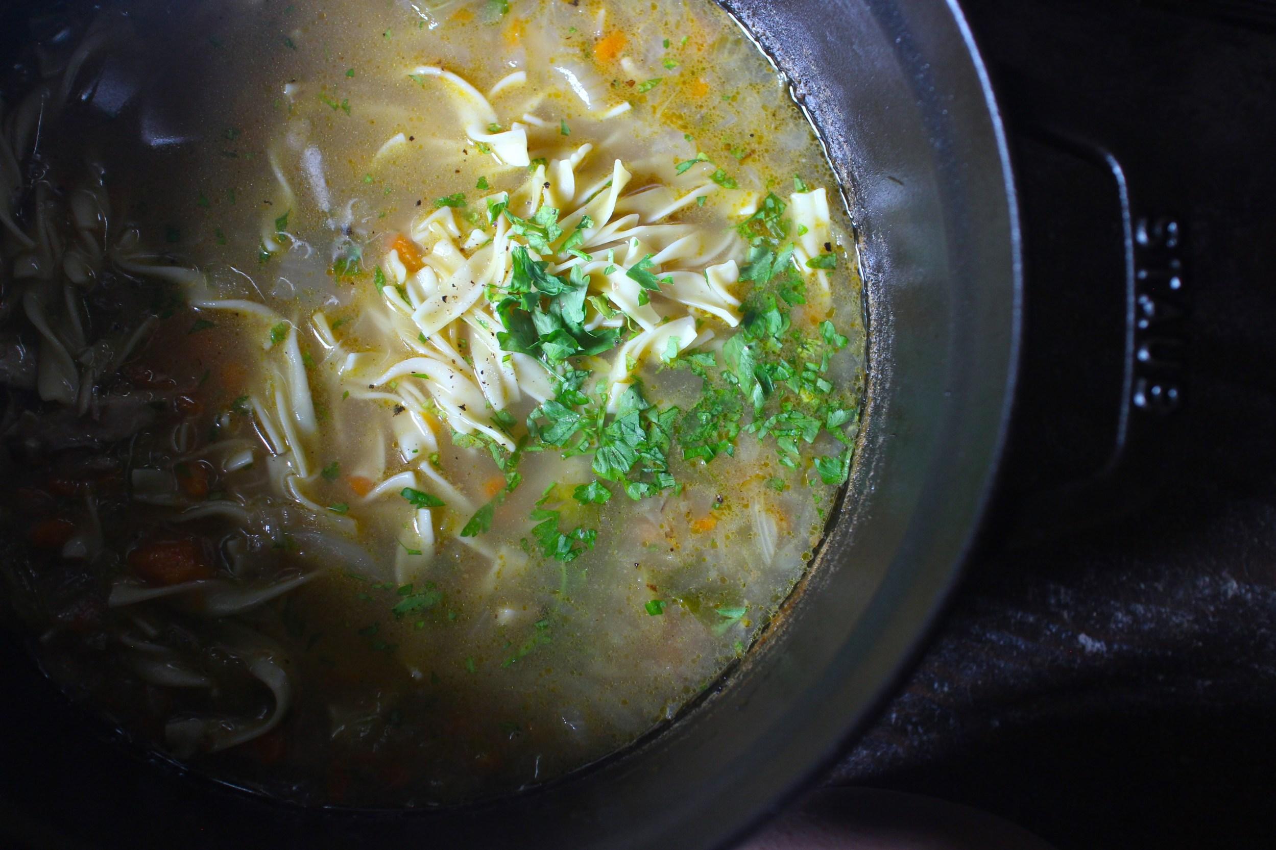 我が家の基本料理:スープとベジバーガー