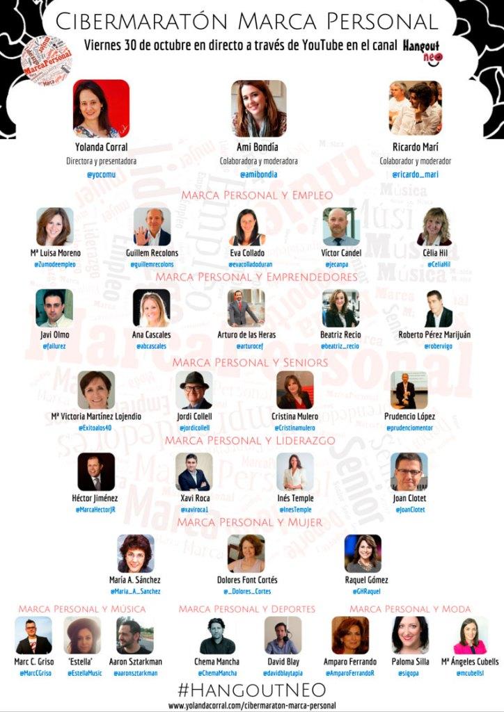 Programa de invitados del cibermaratón de marca personal