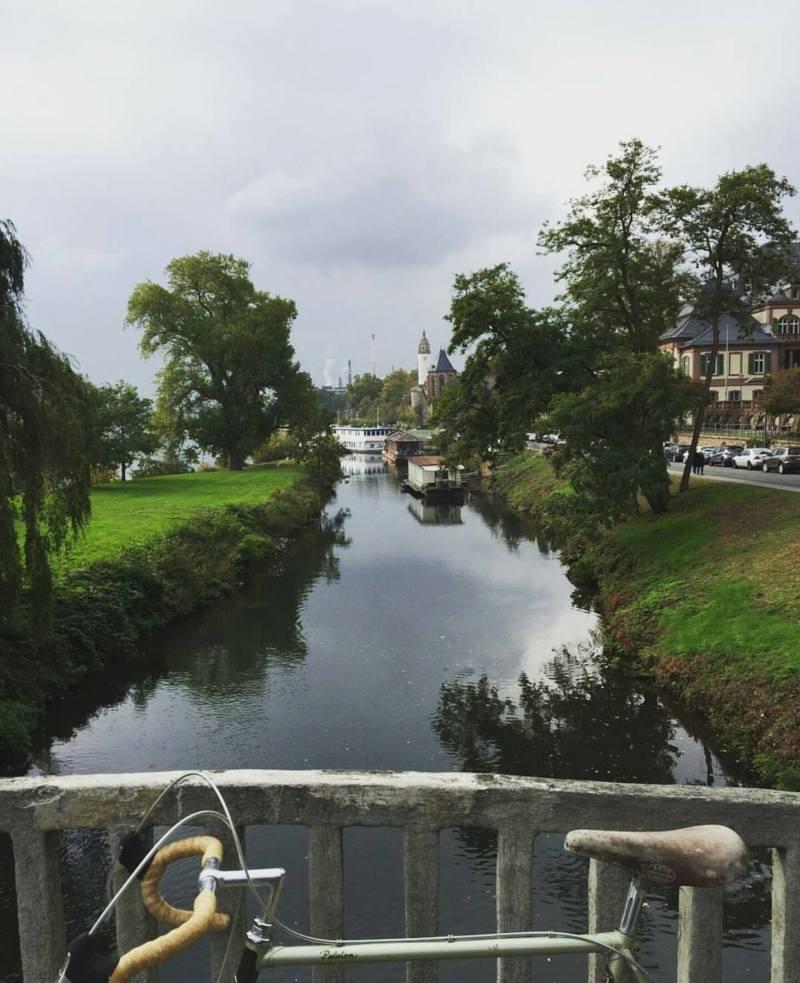 Frankfurt'taki bisikletimiz ve yaşadığımız yer