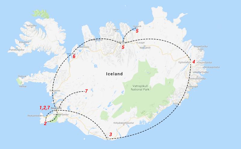 İzlanda Gezi Rotamız
