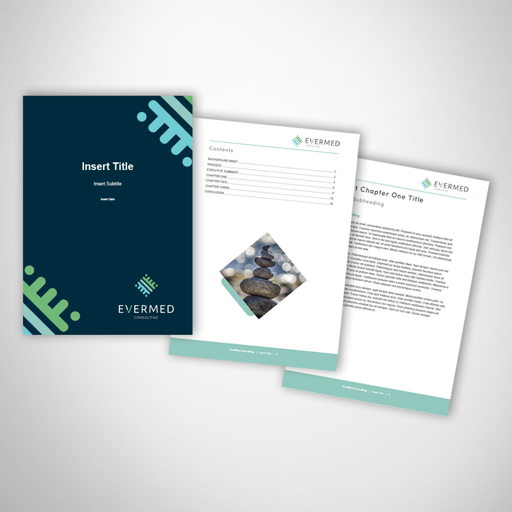Consulting Business Report Template Design In Microsoft Word