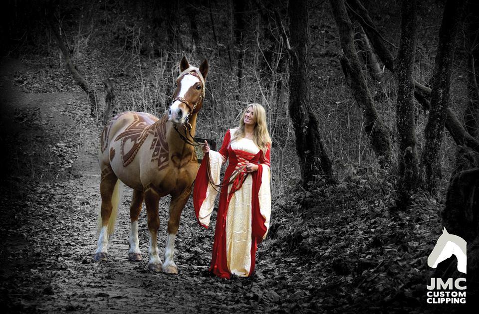 Anglijos mylimus žirgus išpuošė ištaigingais raštais (3)