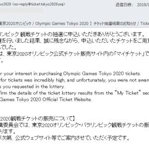 小田和正2019 東京2020 チケット当選発表っ!