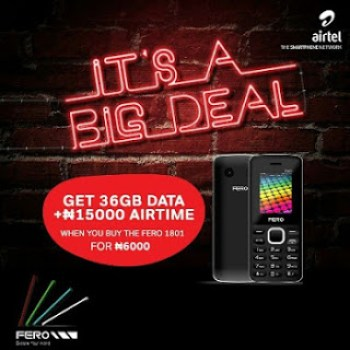 get free 36GB from airtel when you buy fero 1801