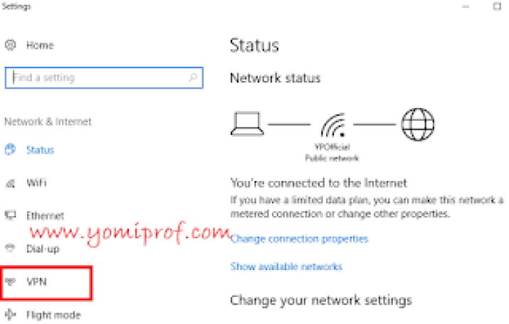 how to connect to windows inbuilt vpn