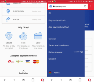 opera opay payment system