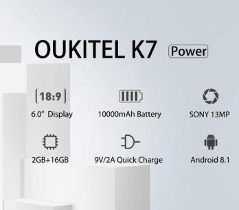 Ouikitel k7 power