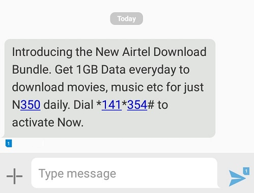 Airtel download bundle