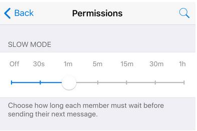 Slow mode telegram update