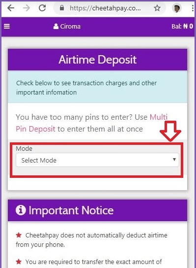 airtime to cash