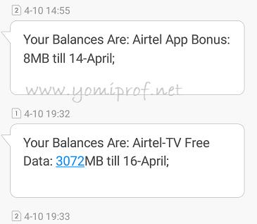 Airtel Free 3GB Data