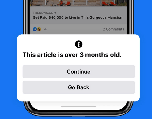 Facebook notification pop up rollout