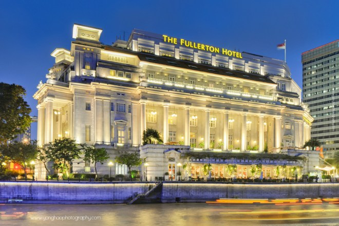 Singapore Iconic Fullerton Hotel Singapore River Exterior Aspect Ratio 3:2