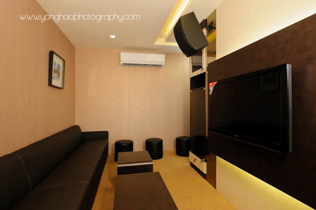 Karaoke, commercial space, interior photography