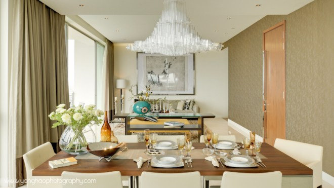 Dining towards living room - Interior photography by YongHao Photography
