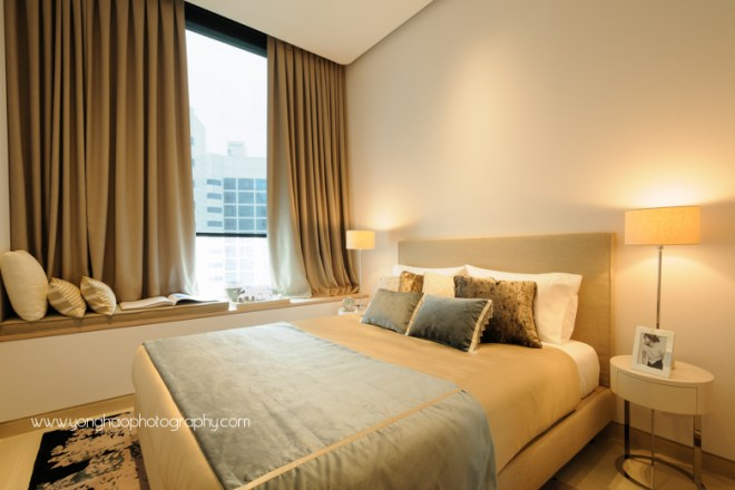 ardmore three, wheelock properties,  condo showflat, yonghao photography,  bedroom