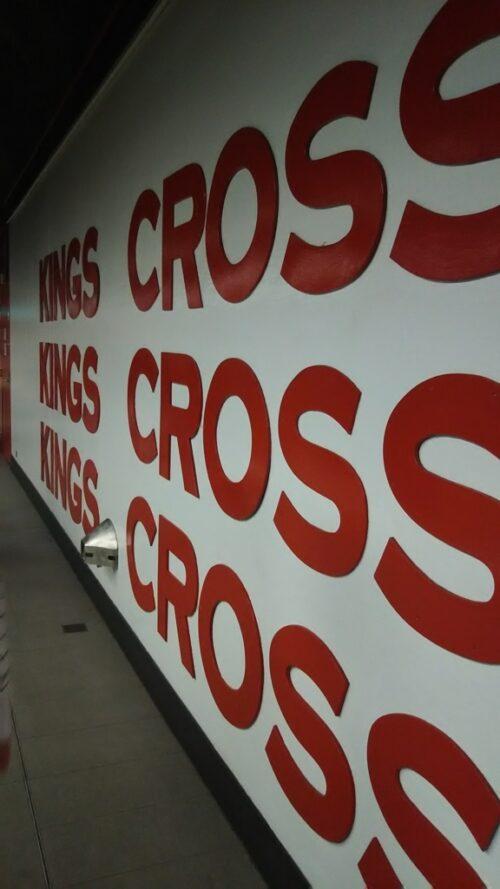 キングスクロス駅壁面