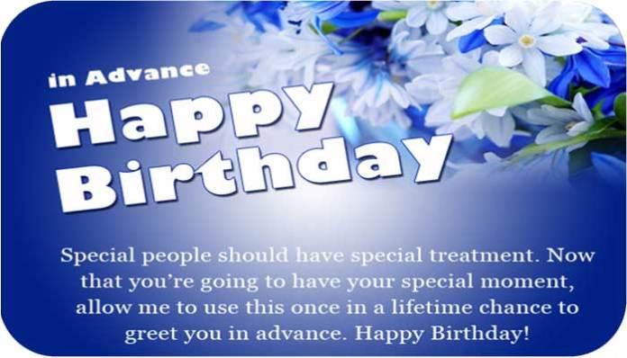 Advance Birthday Wishes In English For Whatsapp 2021 22 Yoolyrics