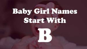 Baby Girl Names Start with B