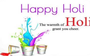 happy holi Messages in English