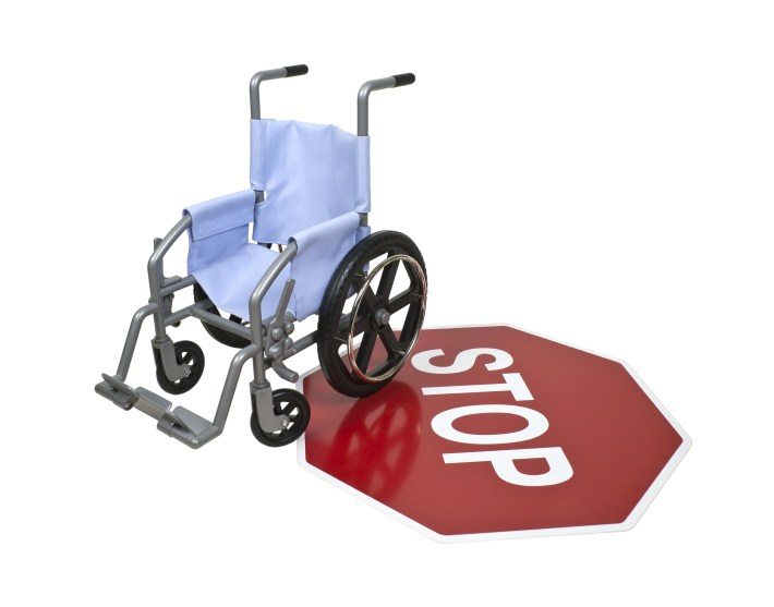 Wheelchair and Stop Sign