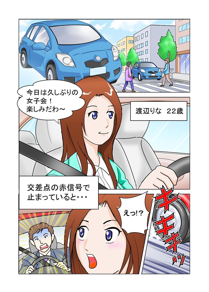 マンガで分かる交通事故の施術1