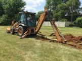 Digging water lines.