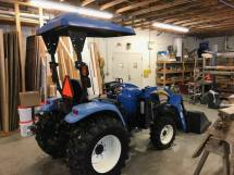 New tractor in winter storage