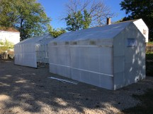 Two donated greenhouses all assembled