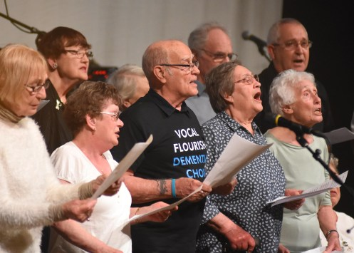 Vocal Flourish, the York dementia choir, performing at A Night To Remember. Picture: David Harrison