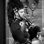 Full Dress Funeral Bagpiper