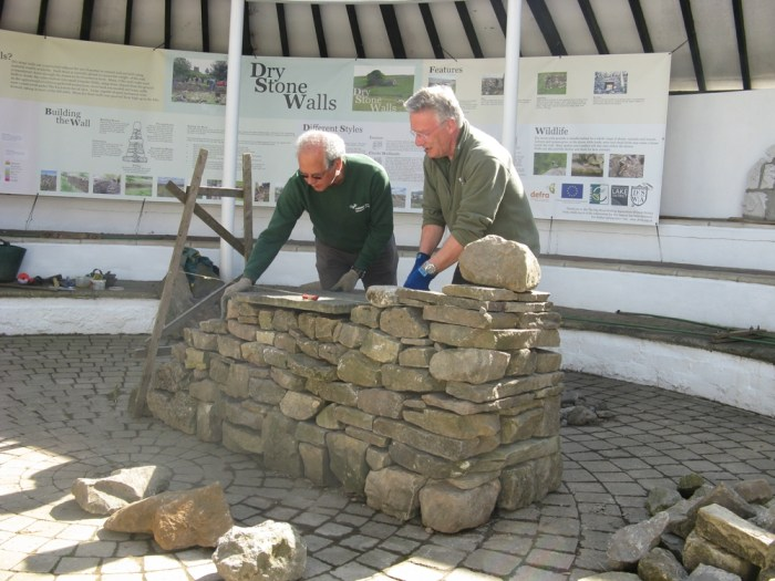 Traditional skills: drystone walling demo in the amphitheatre, Dales