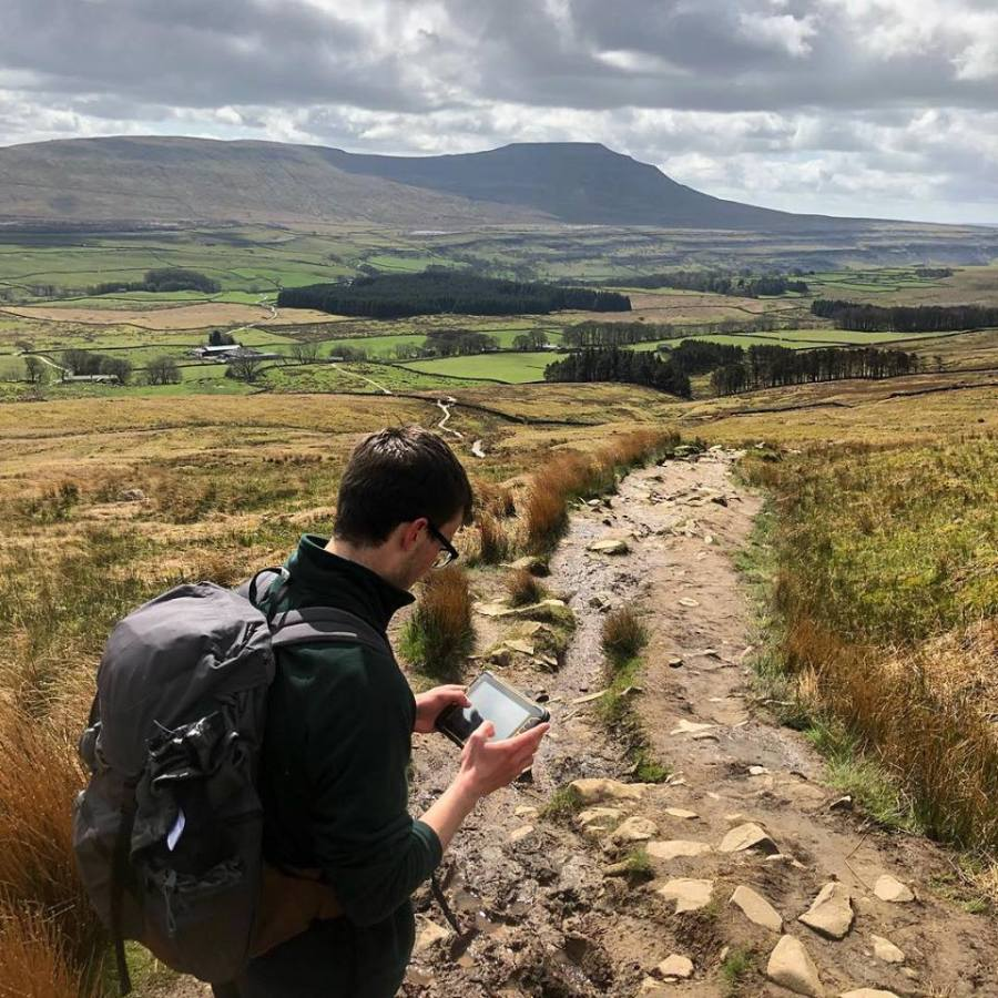 Yorkshire Dales National Park apprentice hard at work
