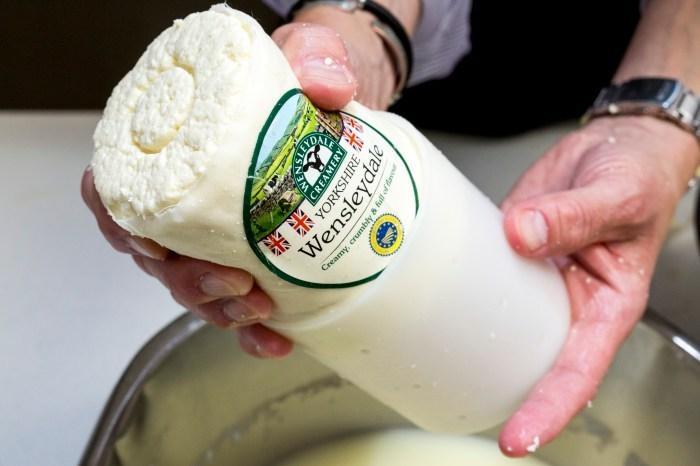 World famous Wensleydale cheese