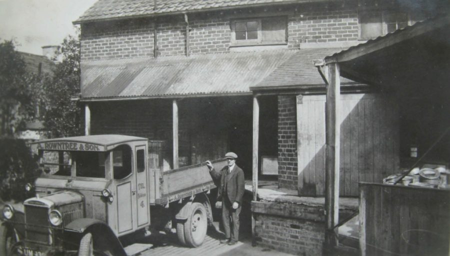 Coverham Dairy loading bay, early 20th century. Courtesy of Charles Rowntree