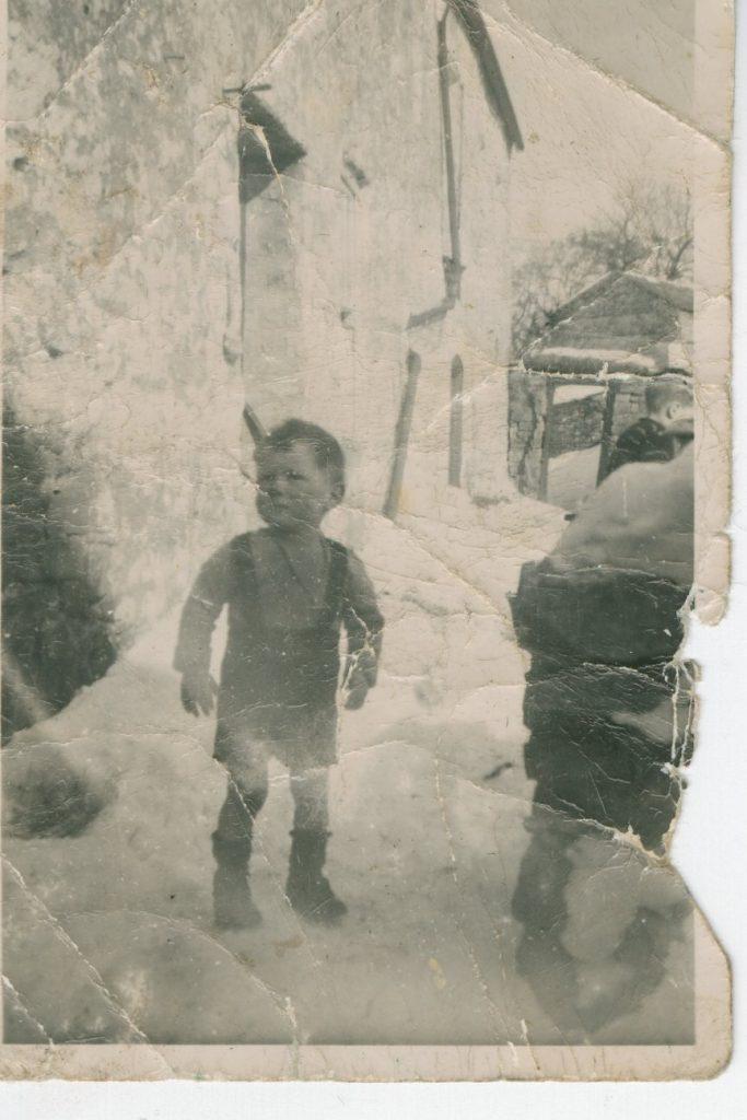 A young Alan Pratt at West End farm, Marsett, late 1940s. Courtesy of Alan Pratt