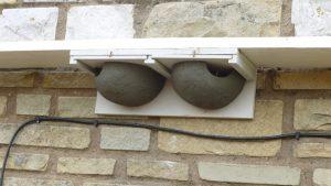 An artificial eaves nest for a housemartin