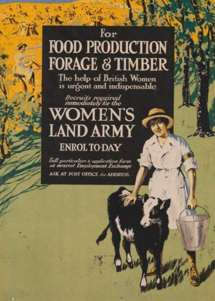 Women's Land Army recruitment poster. With permission of The National Archives
