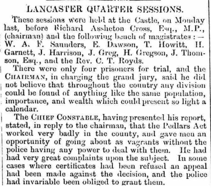 The Westmorland Gazette - Saturday 01 July 1871.  Newspaper image © The British Library Board. All rights reserved. With thanks to The British Newspaper Archive (https://www.britishnewspaperarchive.co.uk/).