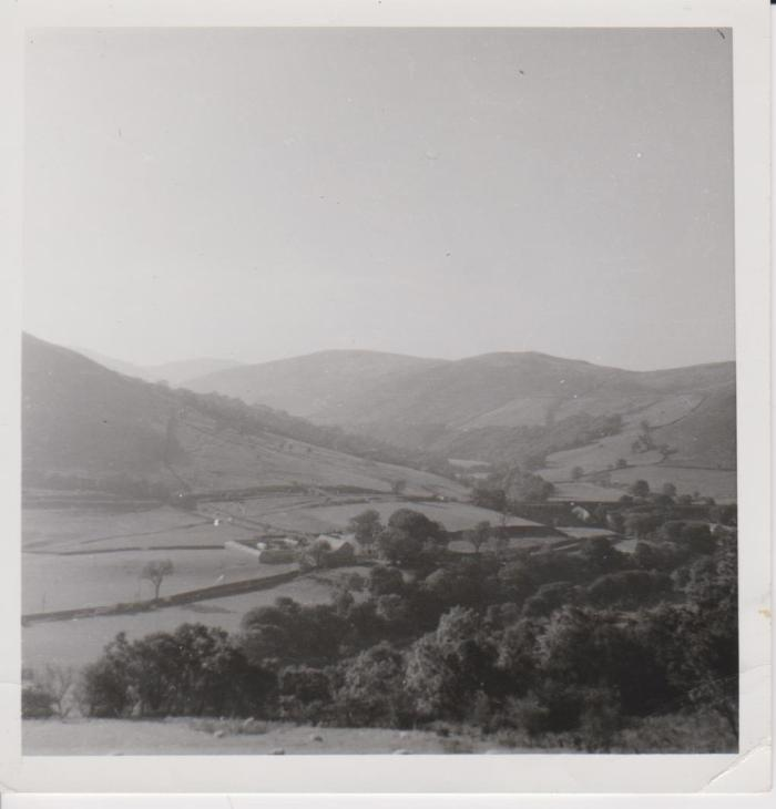 Box camera photograph of Low Borrowbridge before the building of the M6, unknown date. Courtesy of Hilary Wilson