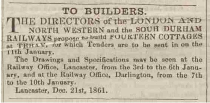 Westmorland Gazette - Saturday 28 December 1861. Newspaper image © The British Library Board. All rights reserved. With thanks to The British Newspaper Archive (https://www.britishnewspaperarchive.co.uk/).