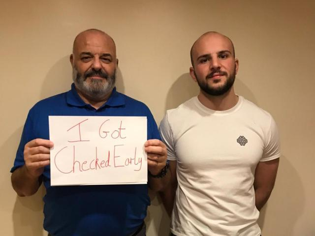 After Gerard's dad got the all clear with his prostate cancer, Gerard wants to raise awareness for others to get checked (photo: Gerard Ellis)